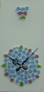 My Time 02, clock featuring glass mosaic