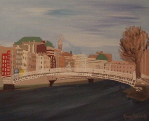 Dublin City and the Ha'penny Bridge